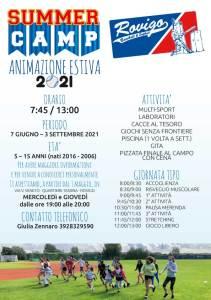 Anteprima Volantino Summer Camp 2021 Fronte