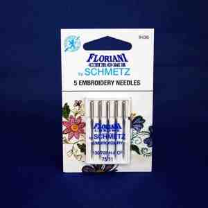 Floriani Chrome Embroidery Needles Size 75/11