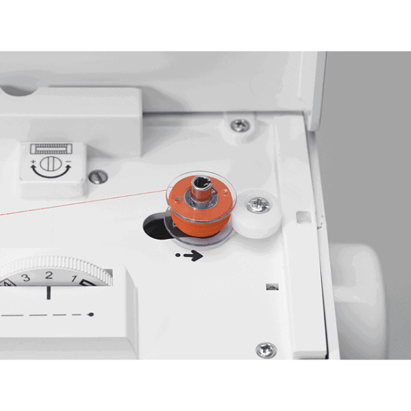The built-in bobbin winder seat holds your thread in place and then stops automatically when the bobbin is full, it couldn't be easier.
