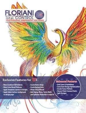 """Floriani's Total Control """"U"""" by Walter Floriani - Embroidery Digitizing Software"""