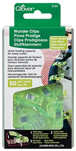 Clover Neon Green Wonder Clips (50 pc)