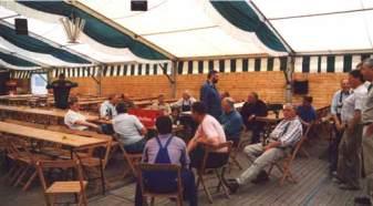 Schützenfest 1997: Aufbau im Zelt