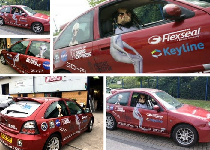 Car graphics sponsorship is out of this world!