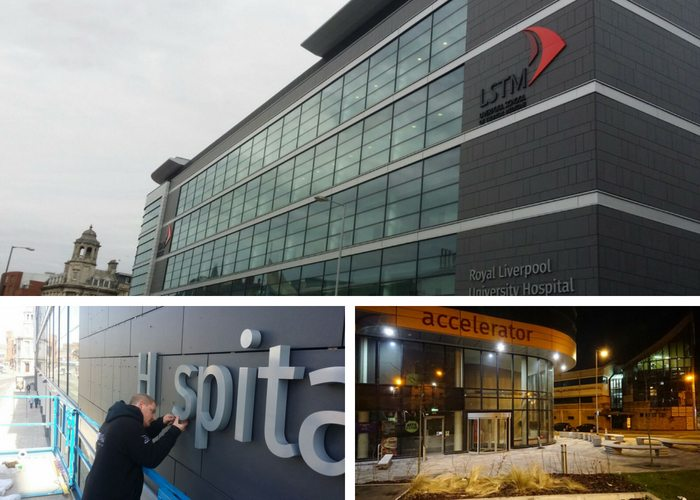 High profile signage puts finishing touches to £25m medicine school in Liverpool