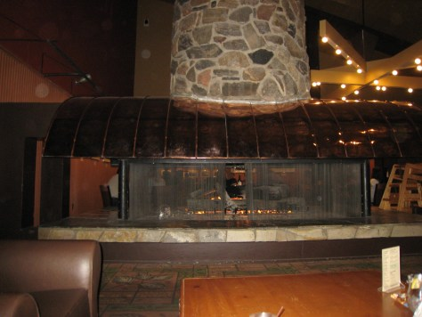 Giant fireplace at Canyon Village.