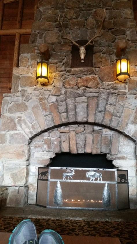 Old Faithful Lodge fireplace.