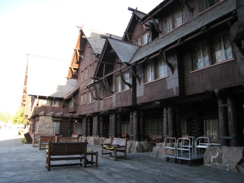 Exterior of the Old Faithful Inn (part of it anyway)