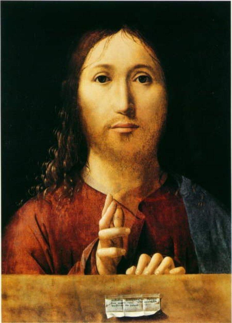 """""""Salvator Mundi"""" di Antonello da Messina"""
