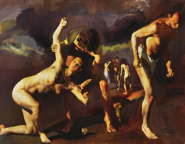 Un quadro di Tibor Csernus: Atalanta and Hippomenes,1986