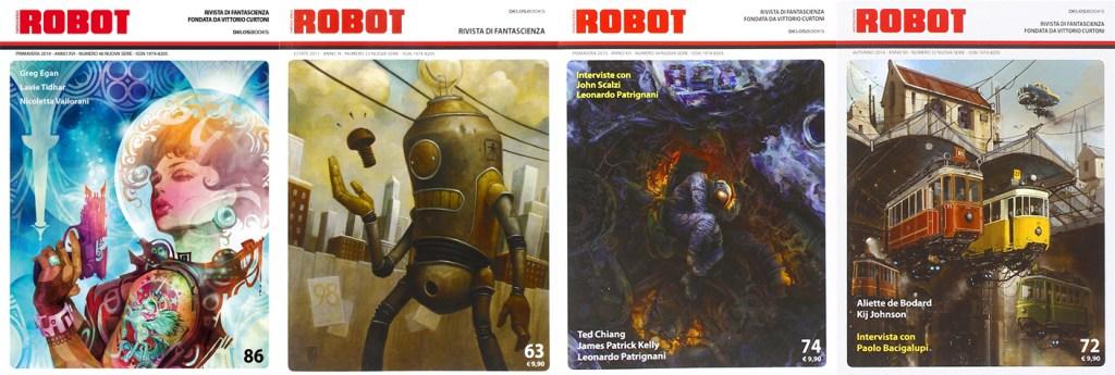 I migliori illustratori della rivista Robot: Galen Dara, Brian Despain, Aldo Katayanagi, Alejandro Burdisio.
