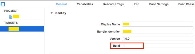Xcode에서 빌드번호를 사용할 수 있다.