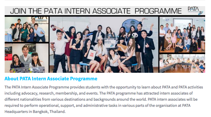 Internship Opportunity: Pacific Asia Travel Association (PATA)