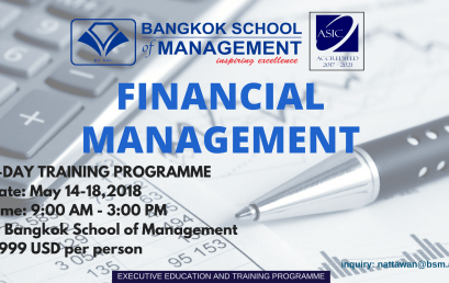 Date: May 14th – 18th Financial Management