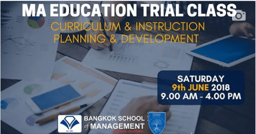 Date: June 9th   Master of Arts in Education (MAEdu) Trial Class