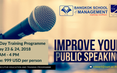 Date: May 23rd – 24th  Public Speaking