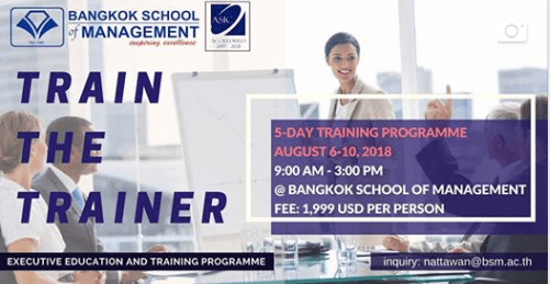 Date: August 6th &#8211; 10th </br></br>Train The Trainer