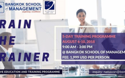 Date: August 6th – 10th Train The Trainer