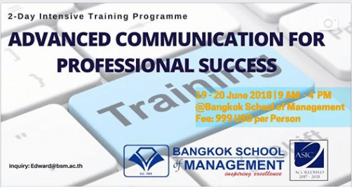Date: June 19th-20th Advanced Communication for Professional Success