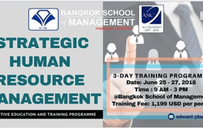 Date: June 25th -27th 2018 Strategic Human Resource Management