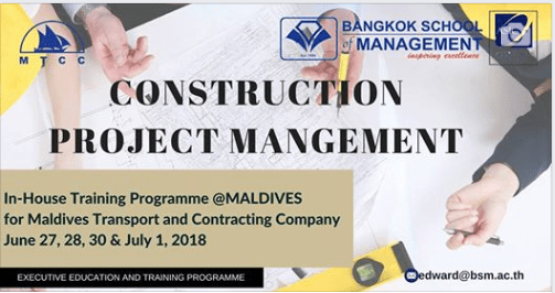 June 27th- July 1st 2018 <br></br>In-House Training Programme on Construction Project Management