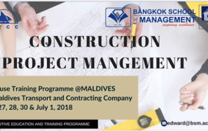 June 27th- July 1st 2018 In-House Training Programme on Construction Project Management