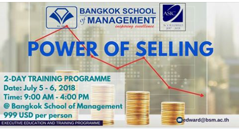 Date: July 5ht-6th  Power of Selling