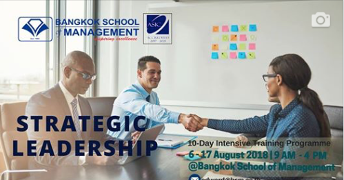Date: August 6th – 17th  Strategic Leadership Training Programme