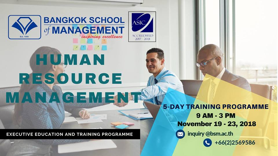 Date: November 19 &#8211; 23 <br></br> Human Resource Management
