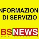 INFORMAZIONE DI SERVIZIO PER I LETTORI DI BRESCIA E PROVINCIA