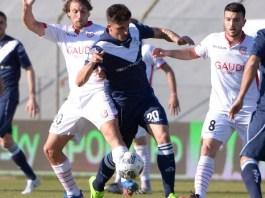 Brescia-Carpi, un'azione di gioco. Foto da sito ufficiale del Brescia - www.bsnews.it