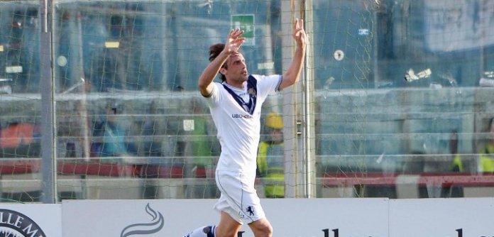 I festeggiamenti dopo il goal del Brescia, foto da sito ufficiale della società, www.bsnews.it