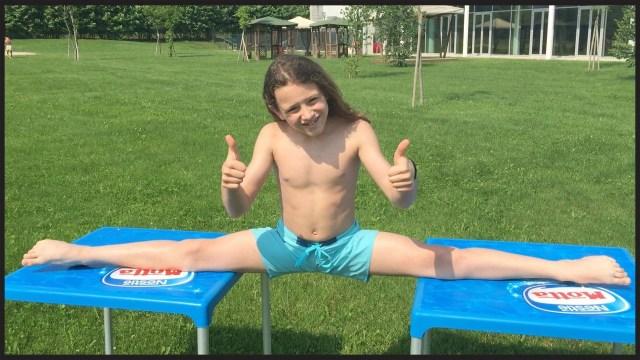 Il 13enne bresciano LukasGym, fenomeno di YouTube, mostra le sue abilità ginniche, www.bsnews.it