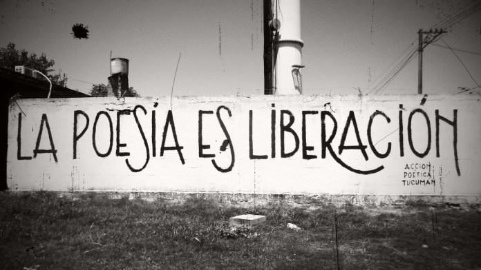 Un celebre graffito dedicato alla poesia (da web)