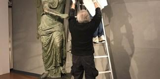 Statua Vittoria Alata, le fasi di restauro - www.bsnews.it