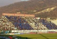 Coreografia dei tifosi del Brescia durante una partita - diritti di Nicola Laffranchi - www.bsnews.it