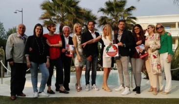 Un'immagine della serata di presentazione della lista di Dina Saottini, candidato sindaco di Desenzano, foto da ufficio stampa, www.bsnews.it