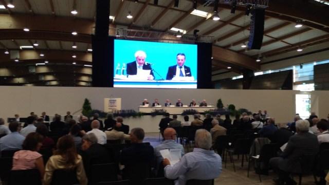 L'assemblea di Btl, Banca del territorio lombardo, alla Fiera di Brescia, foto Andrea Tortelli. www.bsnews.it