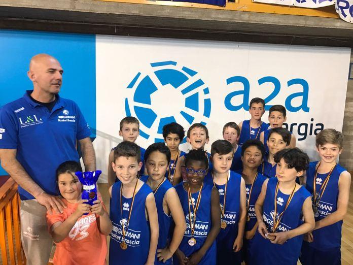 Gli aquilotti della Leonessa Basket premiati, foto Cristina Minini, www.bsnews.it