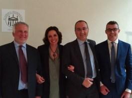 Presentazione Ecoplant, da sinistra Luigi Bertolotti (Crea), Daniela Grandi (Gabeca), Fabrizio Scuri (Gabeca) e Paolo Carnazzi (Saef), foto da ufficio stampa, www.bsnews.it