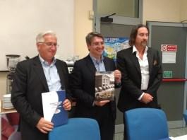 Franco Dusina, Emilio Del Bono e Andrea Battolozzi alla conferenza di presentazione del bilancio 2016 della Centrale del latte, foto Andrea Tortelli, www.bsnews.it