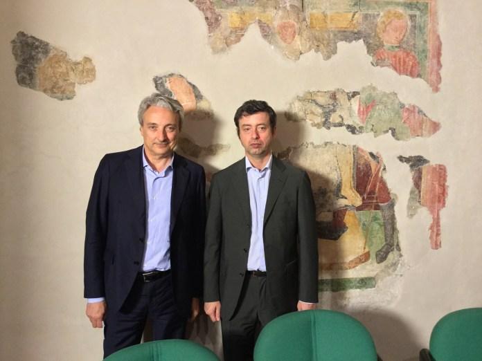 Presidente Aib Pasini con Ministro Orlando - ph credit ufficio stampa www.bsnews.it