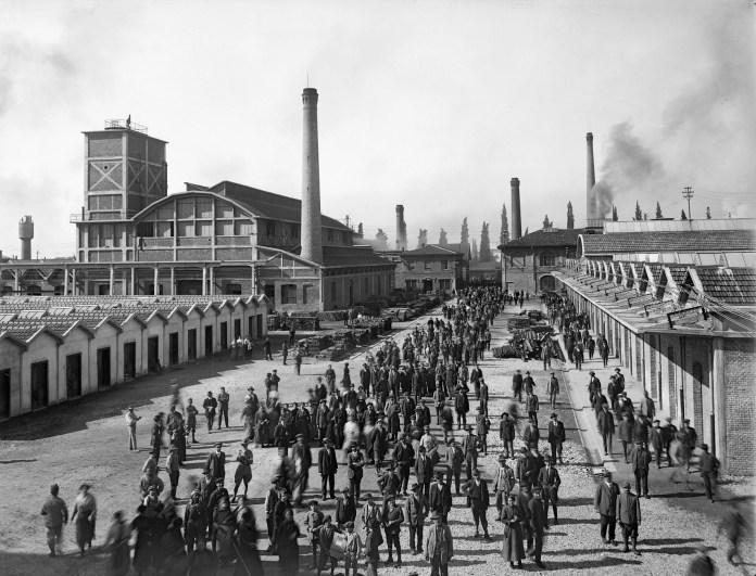 La fabbrica Tempini di Brescia negli anni '20, foto da sito anpi.it