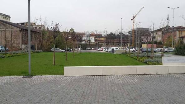 Il parcheggio di viale Italia
