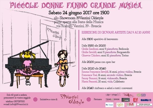 Piccole donne fanno grande musica, l'esibizione sabato 24 in via Vantini 39