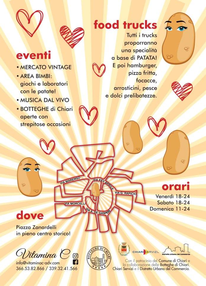 Street food: festival della patata a Chiari il 4-5-6 agosto 2017, la locandina
