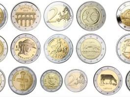 Le monete da due euro sono sempre più di frequente oggetto di contraffazione, foto da Google
