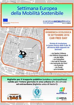 Il primo Car Free day di Brescia, mappa