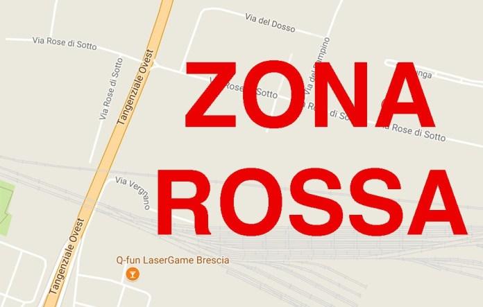 La zona della ferrovia, tra via Vergnano e via Rose di sotto, in cui è stato ritrovato l'ordigno bellico