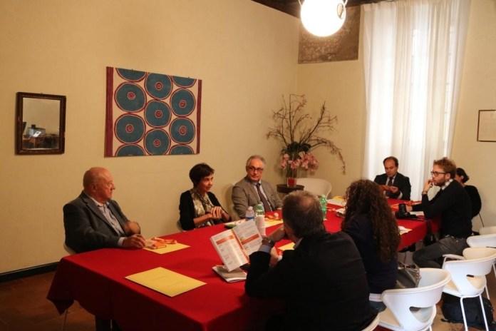 La conferenza stampa di Casa di Industria, con la presidente Elisabetta Donati, foto ufficio stampa