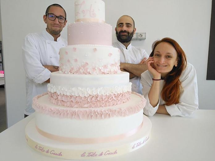 Giada, Andrea e Luca, lo staff de Le torte di Giada, foto da Facebook